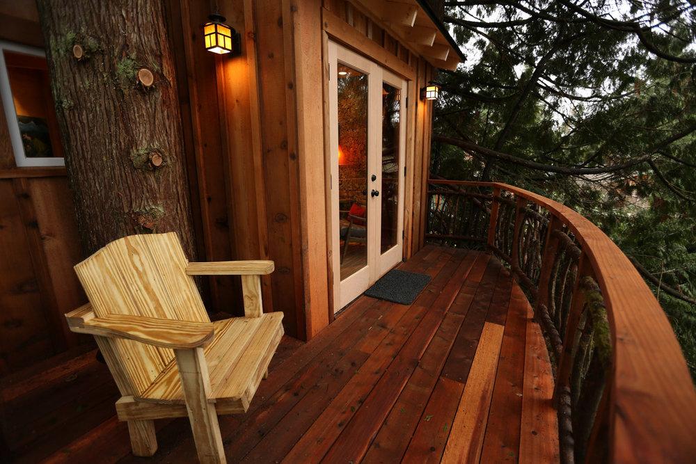 Nelson treehouse recording studio deck railing
