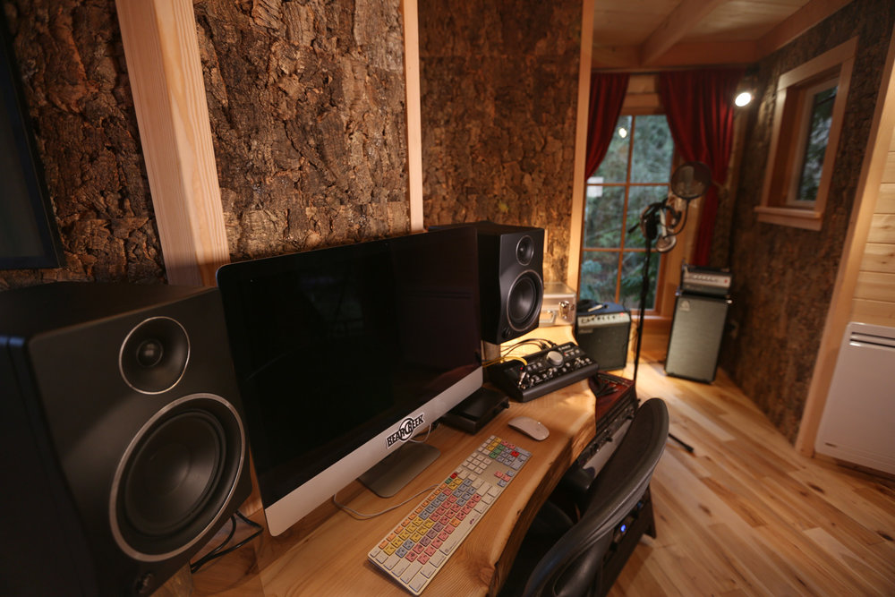 Nelson treehouse recording studio desk