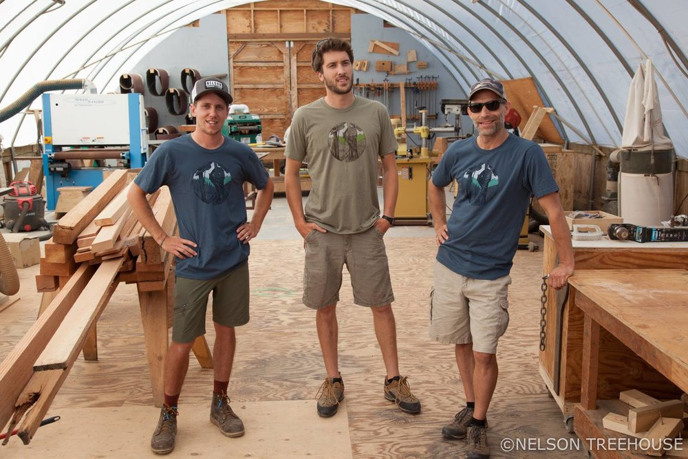 Wyatt, Henry, and Adam enjoy the quality experience of wearing our   Beehive T-shirt.