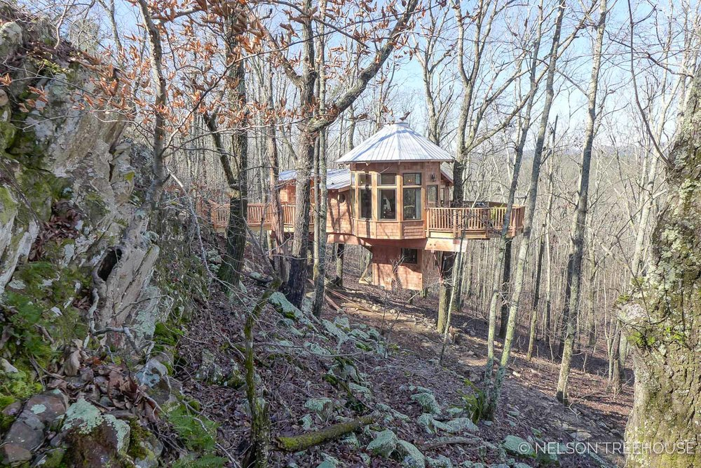 Super Spy Treehouse - Nelson Treehouse 2018 - Side view
