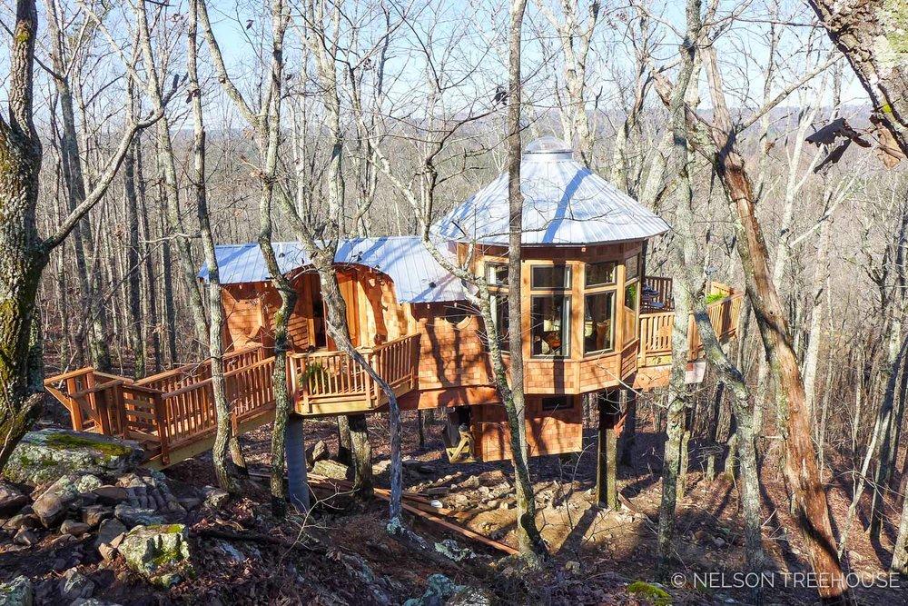 Super Spy Treehouse - Nelson Treehouse 2018 - Chestnut oak grove
