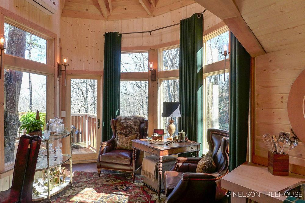 Super Spy Treehouse - Nelson Treehouse 2018 - Living room
