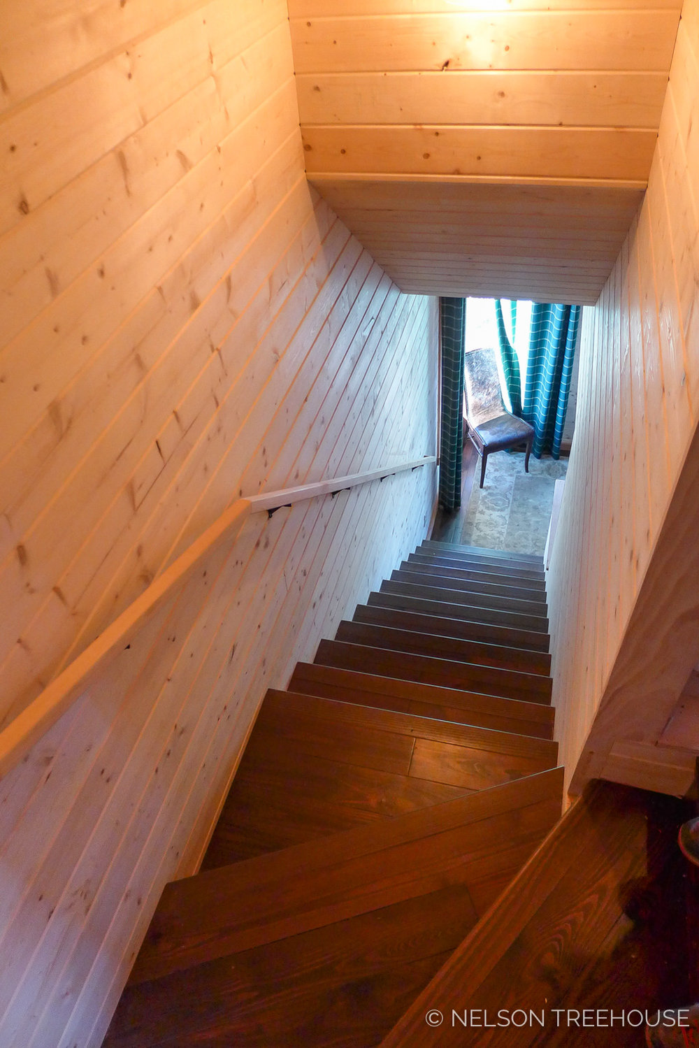 Super Spy Treehouse - Nelson Treehouse 2018 - Staircase to bedroom