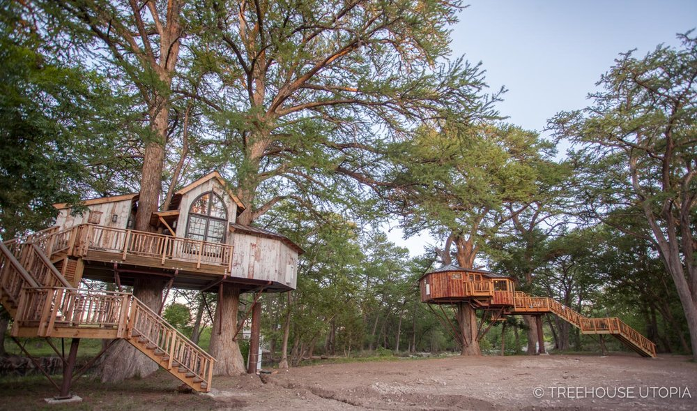 Chapelle at Treehouse Utopia, a Texas Hill Country Retreat. Photo by Nelson Treehouse.