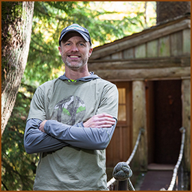 "Scott Atkins  Project Manager     After 20 years of ""ground house"" building, Scott has decided to take it to the trees! Born and raised not far from Fall City, WA, his childhood days were spent in the woods constructing forts, rope swings, and hideouts. Now many years later, he is feeling young again at Nelson Treehouse! As the son of an engineer, Scott is always looking for a creative way to find solutions. As a teenager, Scott's wife, Robyn, helped care for and teach the Nelson kids, so things have truly come full circle. In his spare time, Scott can be found dodging the trees on his skis or backpacking among them with his son, Cedar.     Read Scott's Staff Spotlight here."