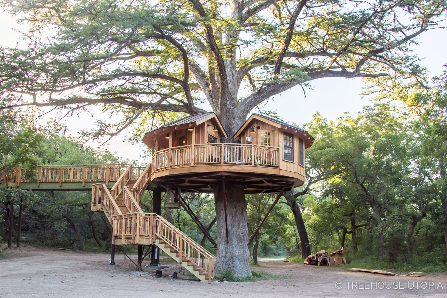 Biblioteque At Treehouse Utopia A Texas Hill Country