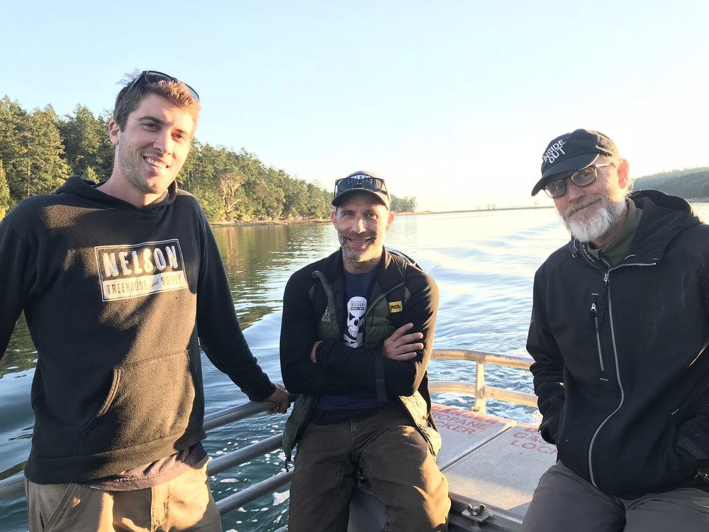 Henry, Adam, and Chuck made up part of the island crew