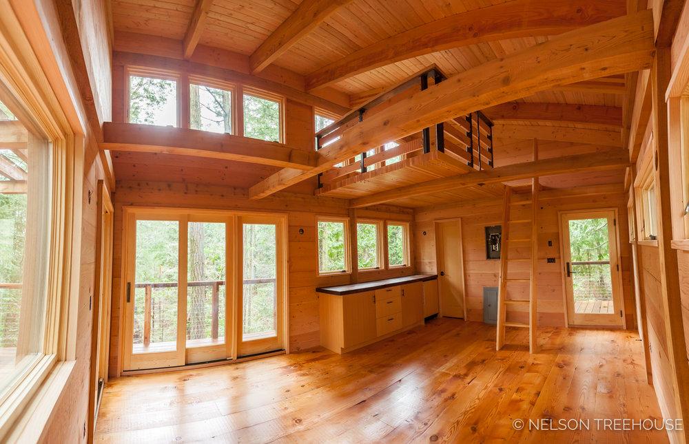 Inside our San Juan Islands treehouse
