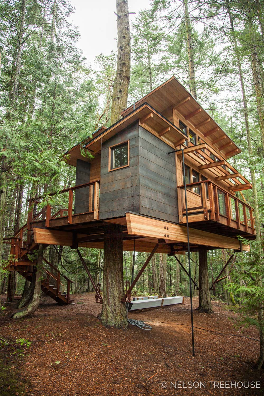 San Juan Islands Treehouse Captivates With Modern Design Nelson