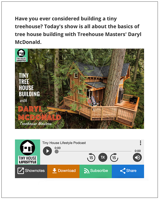 Tiny House Lifestyle Podcast | Dec. 2018