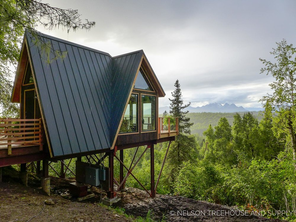 Integrity Windows and Doors in the  Mt. McKinley Princess Wilderness Lodge Treehouse  in Alaska