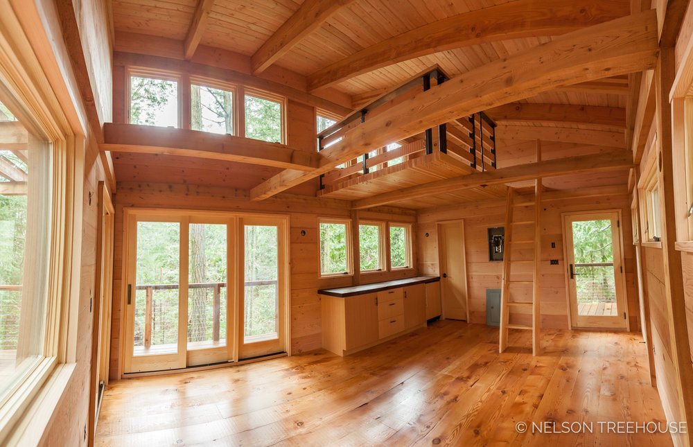 Marvin Windows and Doors in Our  Latest Treehouse on the San Juan Islands