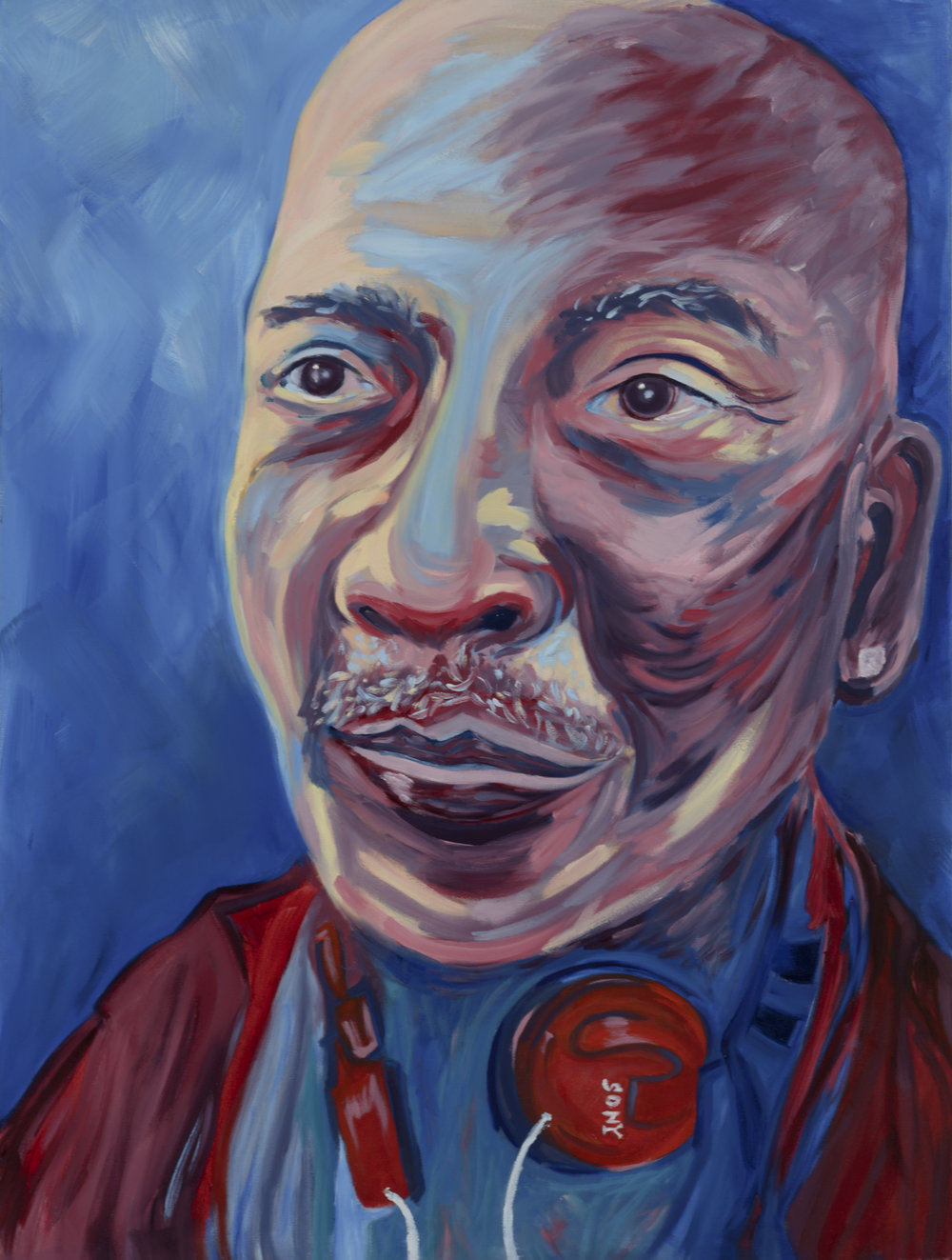 "David Brown Painted by Marisabe Oil on Canvas, 30""x40"" $800"