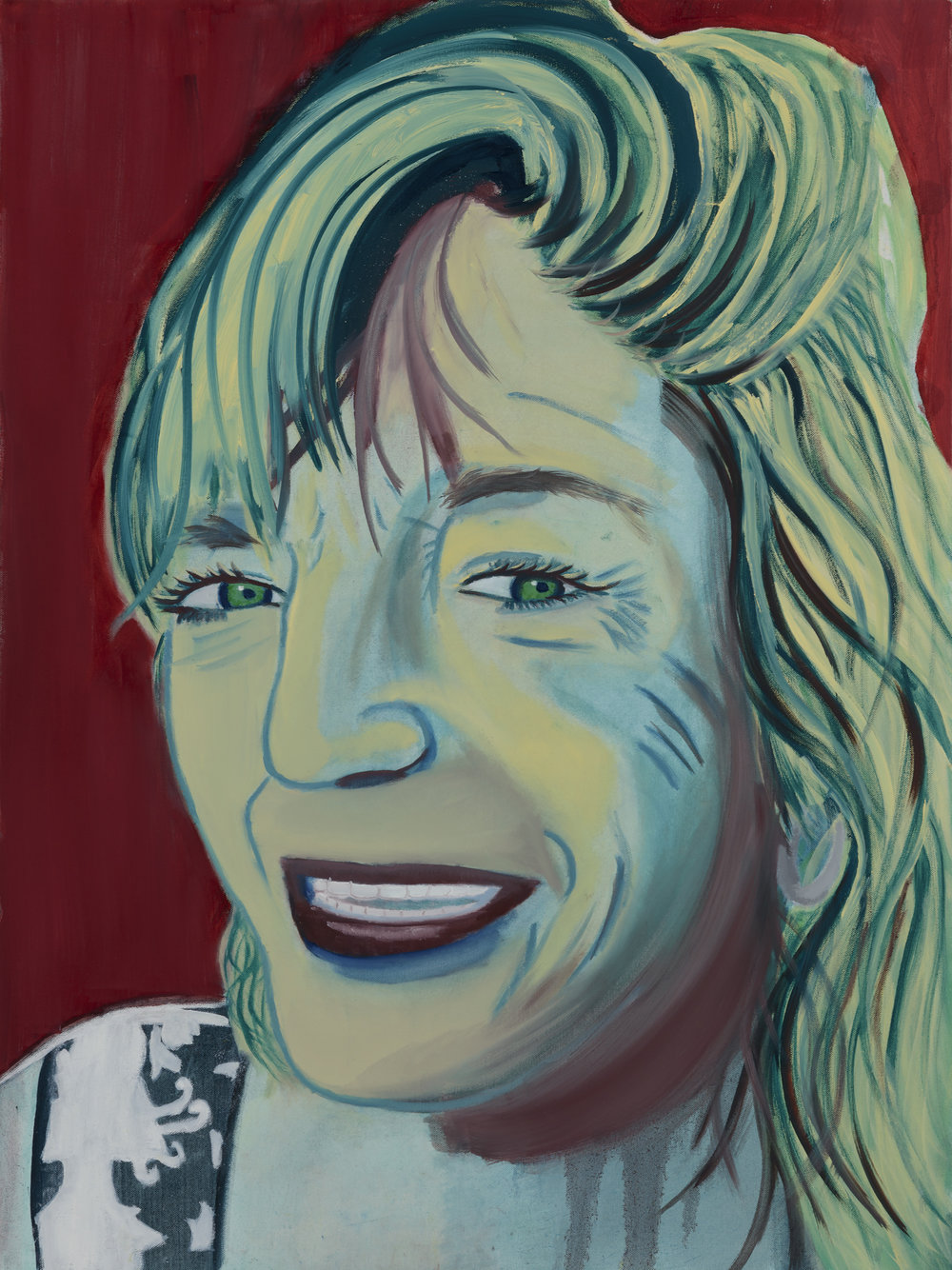 "Kelly X Painted by Leandra Oil on Canvas, 30""x40"" $800"
