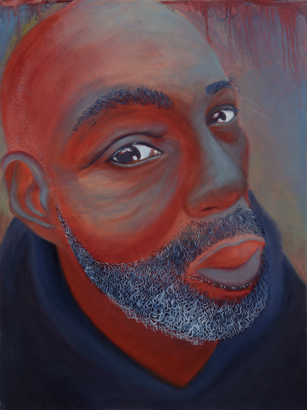 "Anthony Painted by Brianna Oil on Canvas, 30""x40"" $800"