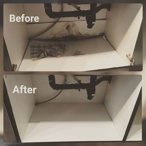 cabinet instal repair mould water damage fix it friend handyman toronto