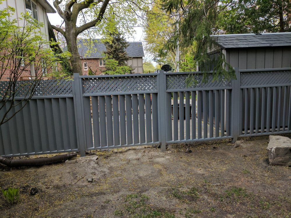 """All coming together. The fence was designed to match a few sections of existing fence that didn't need to be replaced. You know what they say …""""If it ain't broke, don't fix it!"""""""