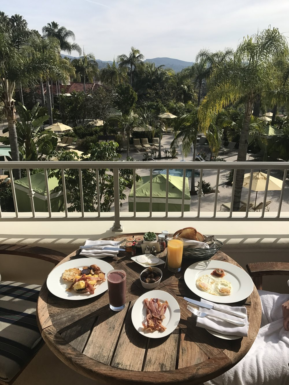 Brunch is better on a balcony.