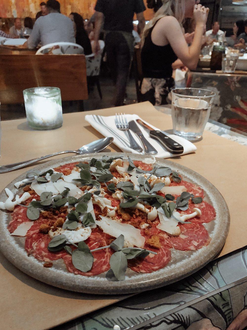 Carpaccio at Cucina Urbana