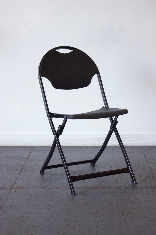 Modern Black Folding Chairs