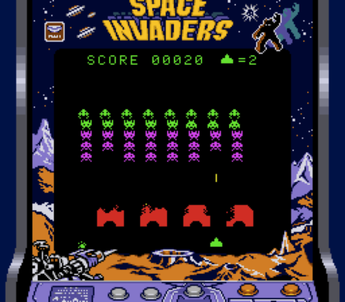 Space Invaders  is an arcade video game created by Tomohiro Nishikado and released by Midway in the US in 1979. The 1980 Atari 2600 version quadrupled the system's sales and became the first mega selling video game.