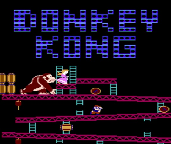 Donkey Kong  is an arcade game released by Ninetndo in 1981.  It is an early example of the platform game genre, as the gameplay focuses on maneuvering the main character across a series of platforms while dodging and jumping over obstacles.  The main character Mario has continued his legacy in such games as Mario Bros.