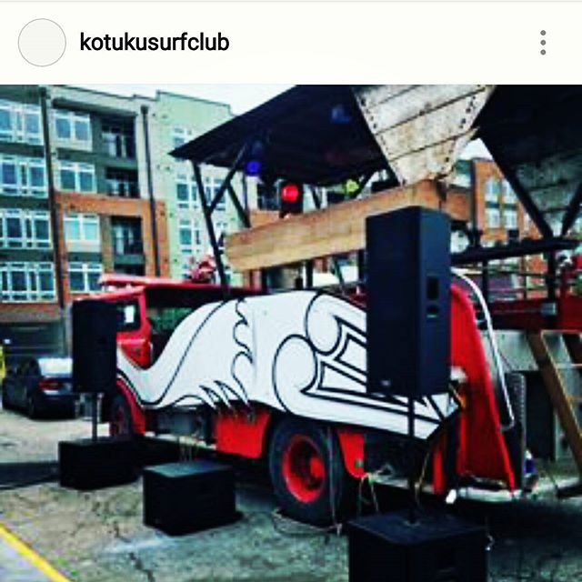 Meet me at da cluuub...it's goin' down tonight @kotukusurfclub don't forget ya boys on the other truck with that far east flava!  #gooseapproved #goldengoosedurham #dj #danceparty
