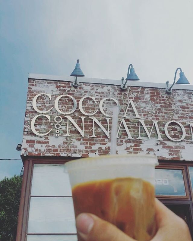 Fun fact : the goose runs on cocoa cinnamon. Julian spends 80% of his paychecks on the iced ToonUp. #goldengoosedurham #gooseapproved #cocoacinnamon