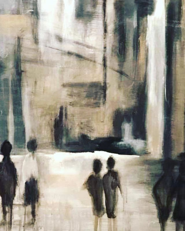 Faces n' Places 👣 . . #paintingoftheday #fineart #thoughts #silouette #greyscale #oilpainting