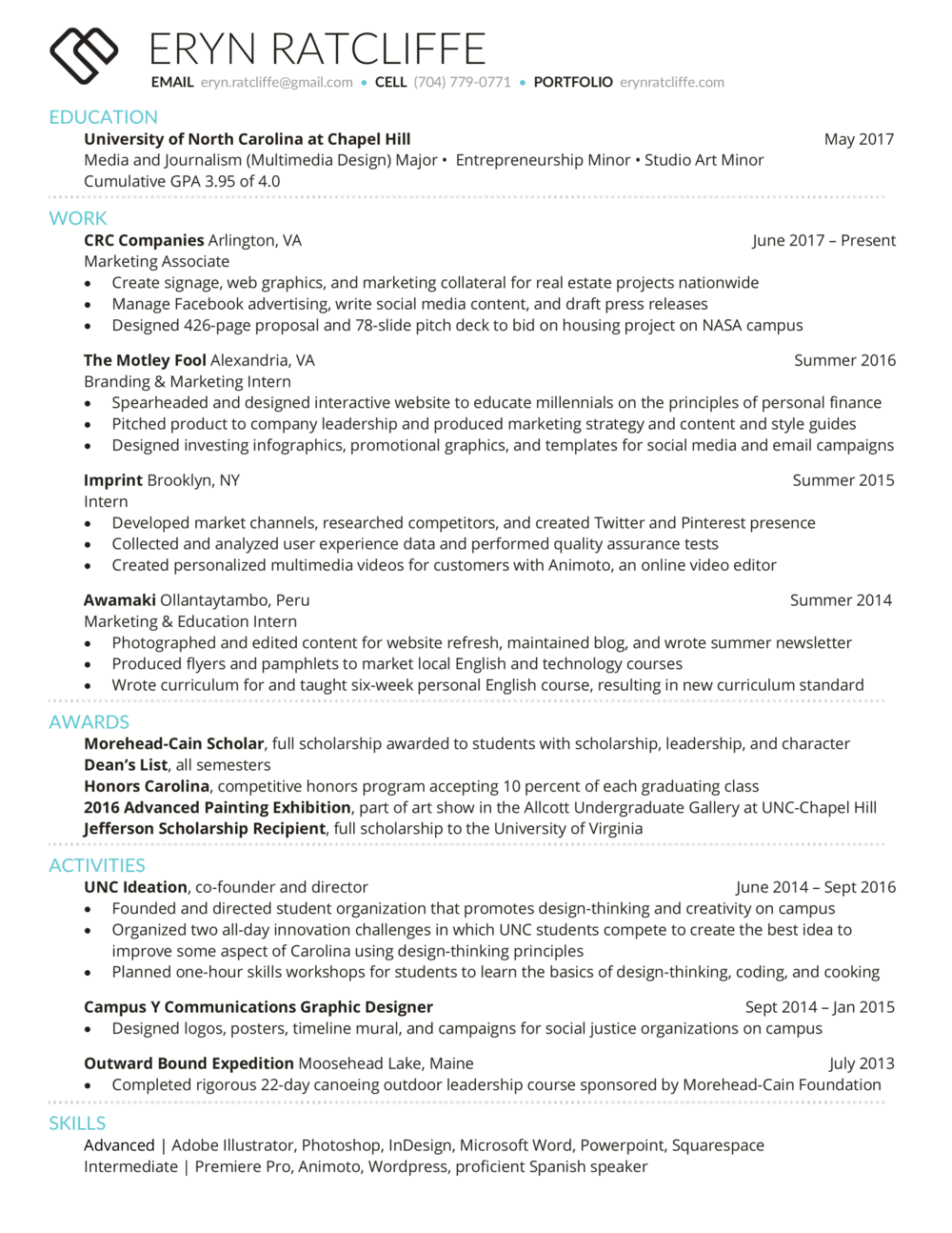 Resume — Eryn Ratcliffe