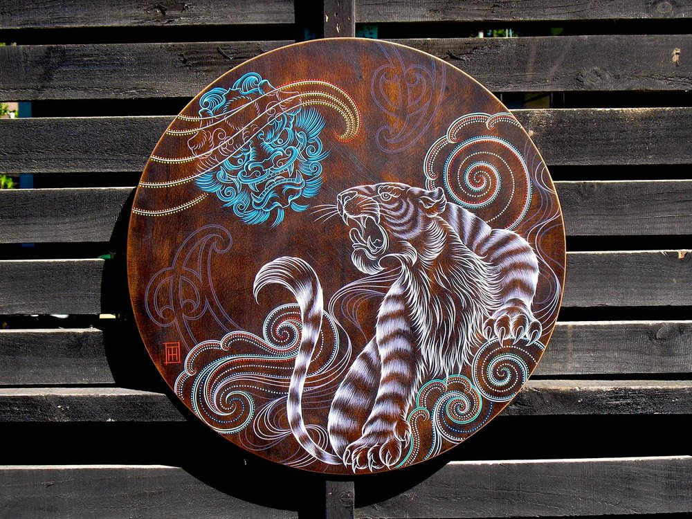 Rising-Up-round-wooden-artwork