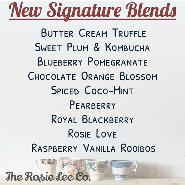 New signature blends now in stock! These amazing high quality loose leaf teas and tisanes will please any palate! Stop in and have a taste! We will be sampling our delicious new additions all week.  #rosieleeco #sanfordfl #sanfording #tea #teabar #looseleaftea #teainsanfordfl #welovetea #bestteaintheworld #nosweetenerneeded