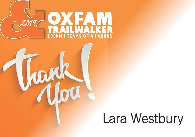 Thanks for the amazing donation and support! #wearewalking #100k #oxfamtrailwalker #melbourne #in30hours #challenge #thankyouforyourdonation #appreciation #levelup
