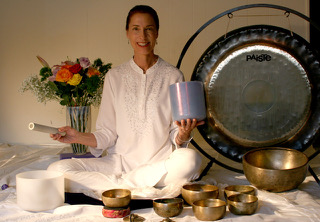Vedya - Vedya has been actively practicing yoga since 1993. She began teaching Hatha yoga in 2004, and Kundalini yoga in 2005. Since then she has taught thousands of classes and workshops nationally, internationally and in her home studio in Austin. She returned to the US in 2016 from three and a half years of living in Munich, Germany where she continued to teach yoga in a corporate setting as well as privately, despite her limited German!  Vedya's eclectic teaching style has evolved over the years through working with many diverse teachers and students. She encourages her students to expand their awareness of alignment, balance, and strength building. She emphasizes the integration of whole mind, body, emotional and spiritual consciousness. She enjoys sharing sound energy through gongs, singing bowls and other instruments with her students. Certifications: Hatha ERYT®500, Kundalini 500hr, Advanced Gong Certification, Certified iRest® Teacher, Judith Lasater's Restorative Relax and Renew Trainer Certification. Vedya Teaches: Hatha, Kundalini, Yoga Nidra, iRest®, Restorative, Yin and Gentle Yoga styles. Vedya published her iRest® CD