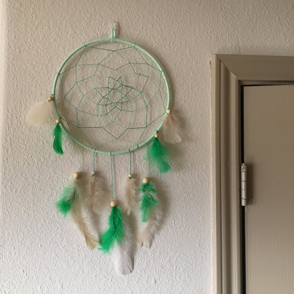 Dream Catcher - Learn how to weave and decorate a dream catcher. Customize yours with different color leather, string, feathers and beads.