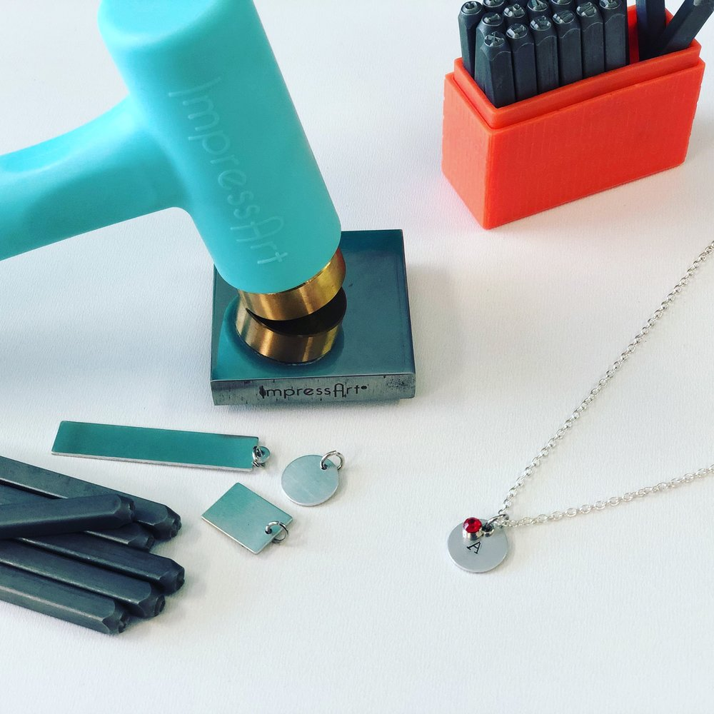 Jewelry Making Workshop - Our DIY jewelry Bar teaches you the basic building blocks of jewelry making and then you can choose designs to make 1-5 custom pieces to make and take. Metal stamping, tassel earrings, bracelets, and more!