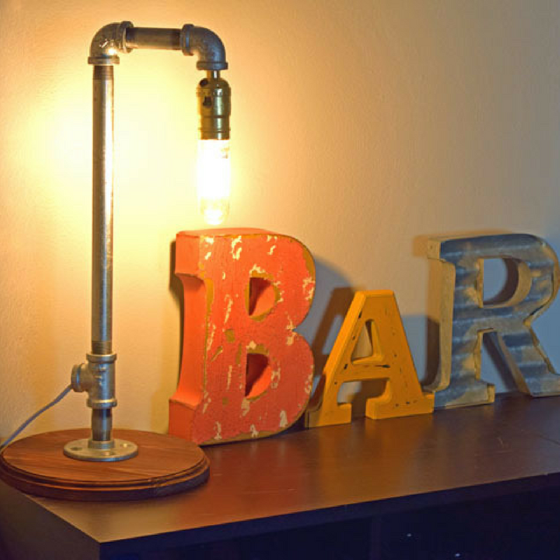Pipe Lamp Workshop - Learn to strip wire and assemble plugs, sockets, and build a custom lamp!