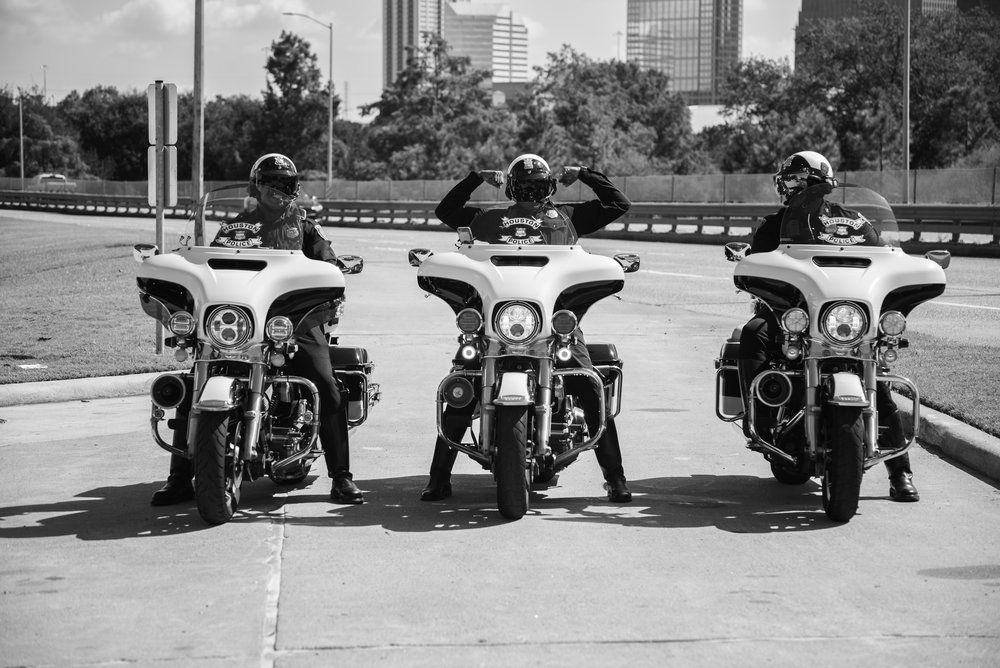 Houston Motorcycle Officers Strike a Pose