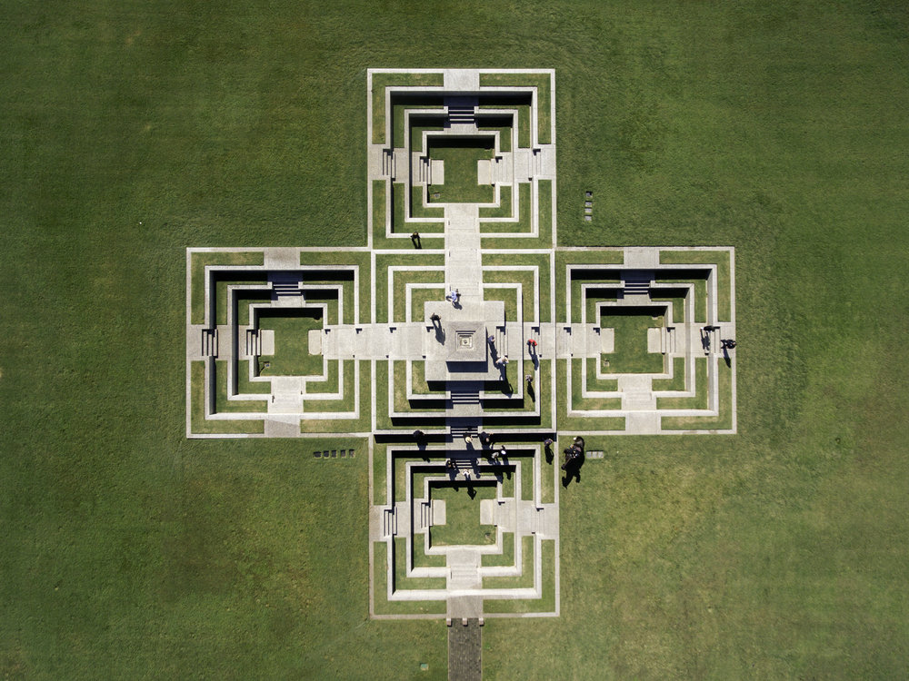 Houston Police Officers' Memorial via Drone