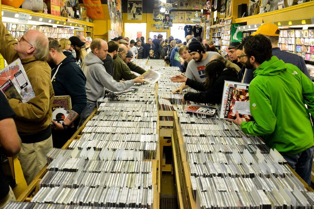 A Record Store Day past. Courtesy Lake Fong/Pittsburgh Post-Gazette