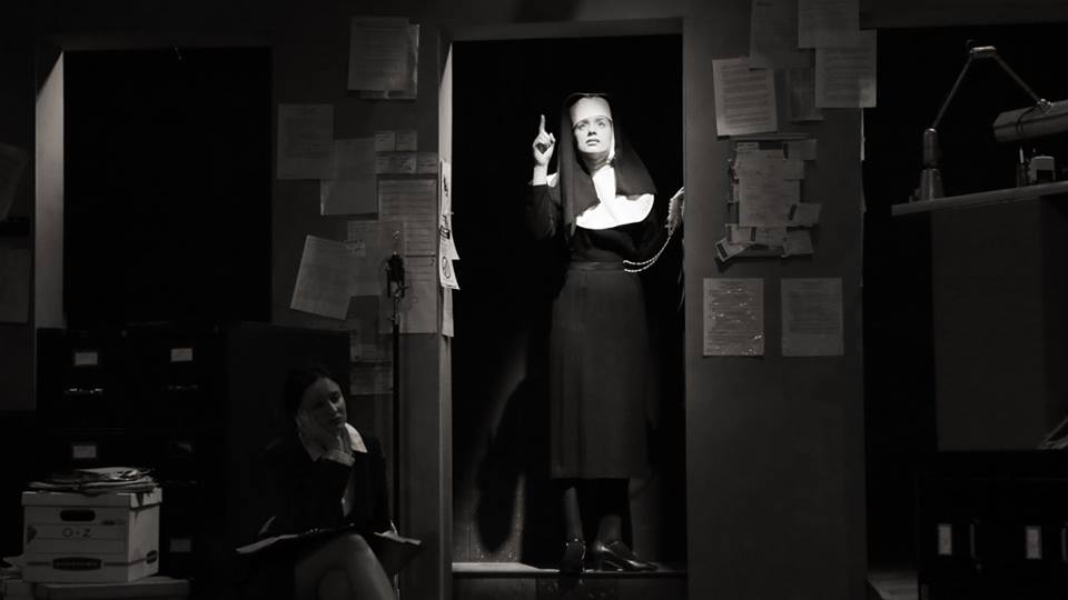 Rigel as Sister Glenna in 'The Last Days of Judas Iscariot' at Skidmore College, Spring, 2016  .   Directed by Hannah Baker and Theo Saroglou. Photo by Sue Kessler.