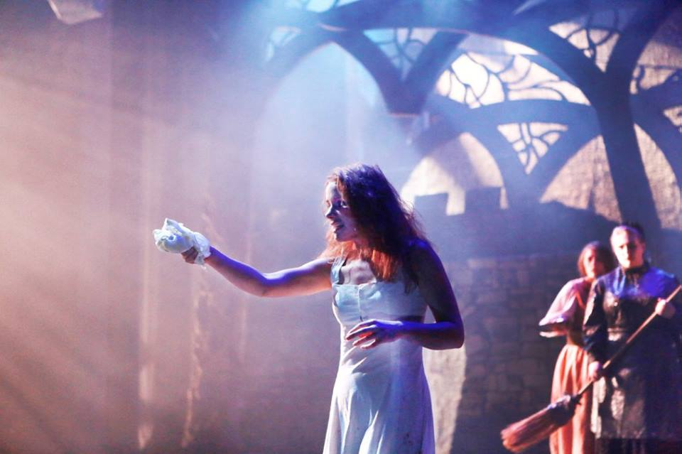 Rigel as Lady Macbeth in Macbeth , Skidmore Theater Department's Fall 2015 Mainstage Production.  Photo by Sue Kessler.