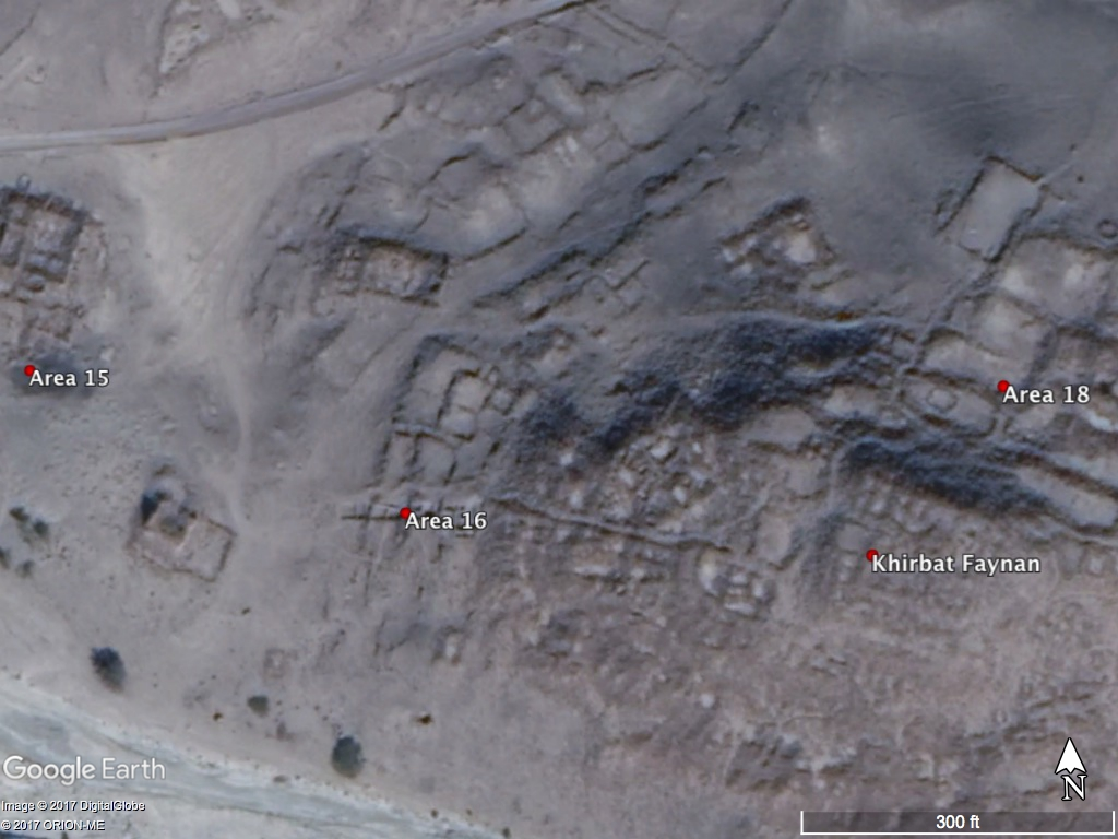 Google Earth image of Khirbat Faynan
