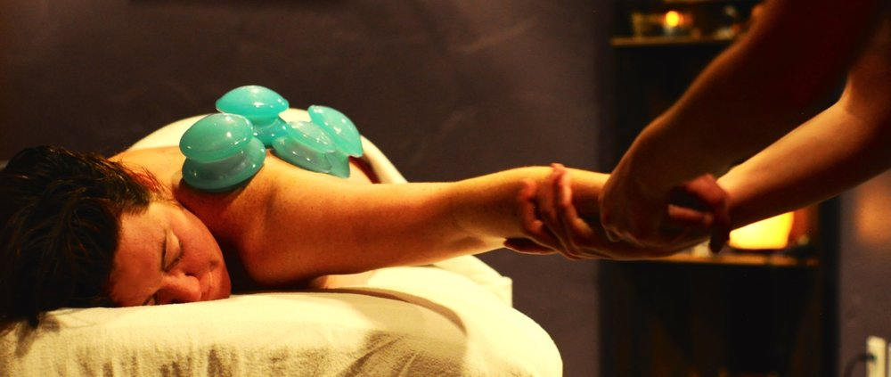 Cupping is a comfortable way to release tension throughout the body and improve range of motion.