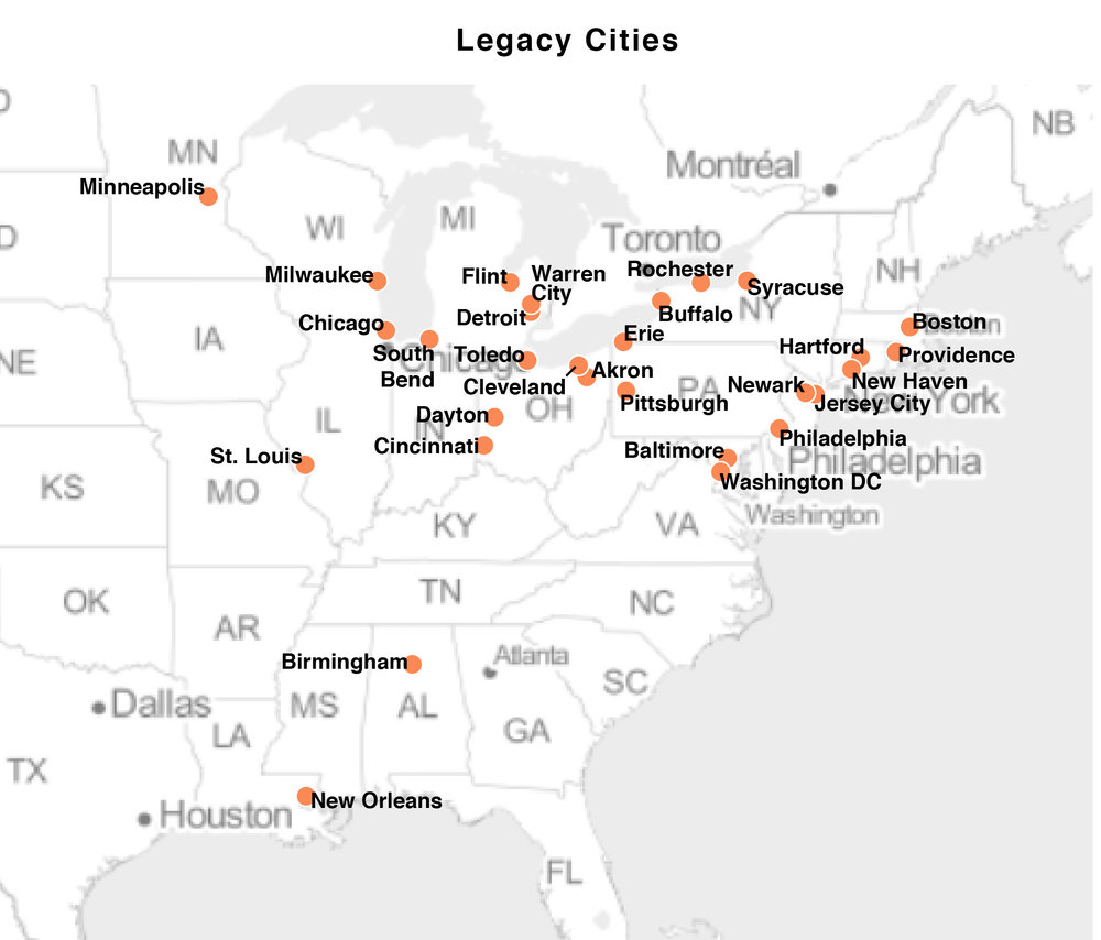 DATA: The Legacy Cities used in our example