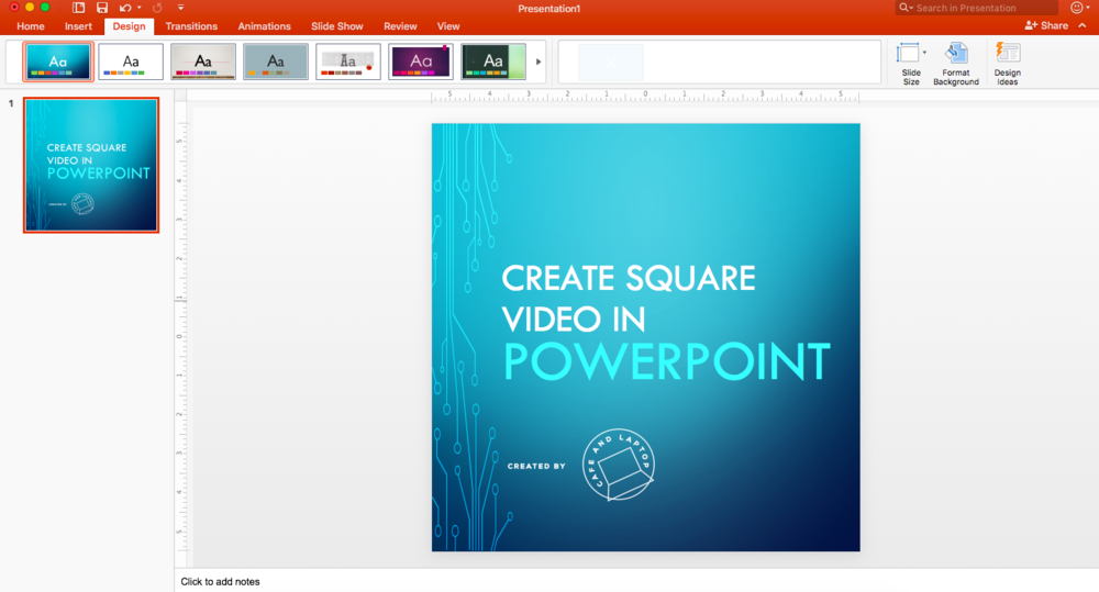 square video powerpoint