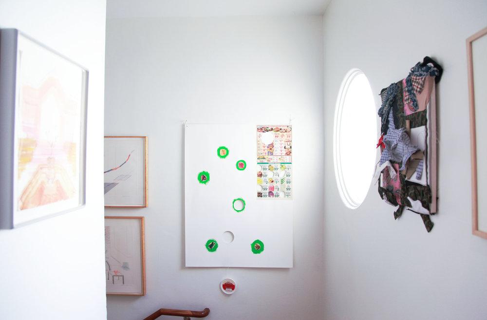 Installation view: Mark van Yetter, B. Wurtz, Nik Geene