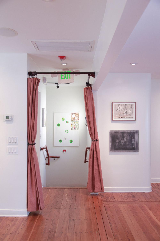 Installation view: B. Wurtz, Luchita Hurtado, Silke Otto-Knapp