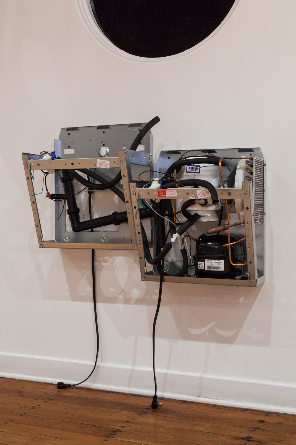 Violet Dennison   Mirror Stage , 2018, The gut of two Elkay EZ8L Wall Mounted Water Coolers, 25 x 36 x 19 inches