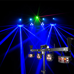 Our lighting rig setup- the Chauvet Gigbar IRC